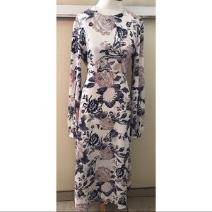 ASOS Long Sleeve Floral Maxi Dress Modest 8 spring